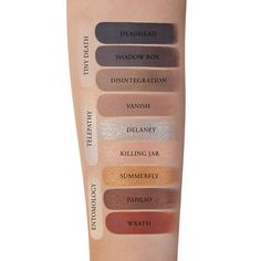 Monarch Eyeshadow Palette by Kat Von D *color names listed AND shown on different skin colors