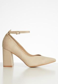 Camilla block court heel - neutral Superbalist Heels | Superbalist.com Court Heels, Camilla, Block Heels, Ankle Strap, Two By Two, Neutral, High Heels, Footwear, How To Wear