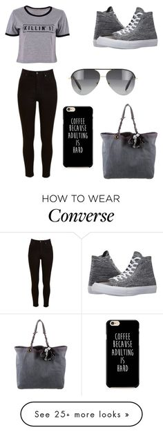 """black grey"" by oce-saurin on Polyvore featuring Lee, Converse, Lanvin and Victoria Beckham"