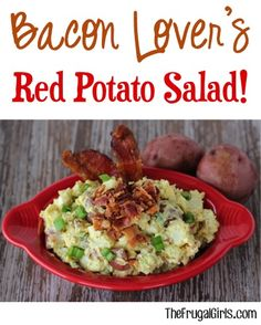 Bacon Lover's Red Potato Salad Recipe! ~ from TheFrugalGirls.com - you'll love this delicious twist on your traditional potato salads... let the picnic begin! #potatoes #recipes #thefrugalgirls