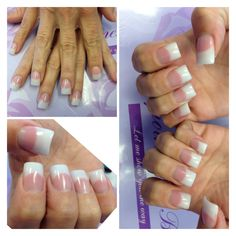 Ideas for nails natural acrylic white French Nail Designs, Pink Nail Designs, Nails Design, Glitter Manicure, Sparkle Nails, Blue Nails, White Nails, Acrylic White Tips, American Manicure Nails