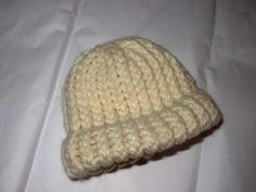 Knit Baby Hat: tan