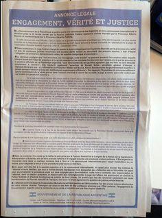 CFK malgasta 135.000 euros en solicitada, ver y leer en anibalfuente.blogspot.com.ar