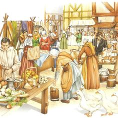 Medieval Market, Painting, Fictional Characters, Art, Google, Renaissance, Early Education, Art Background, Painting Art