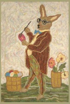 Rug Hooking Pattern on Linen or Monks Cloth by Briarwoodfolkart, $48.00