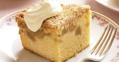 Sweet apple crumble cake makes the perfect warm dessert on cold winter nights.