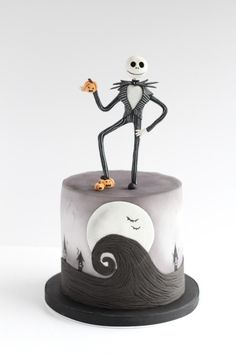 Nightmare Before Christmas Halloween cake by Beckys Blooming Bakery
