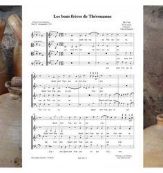DU CROC (DUCROCQ) - Les bons frères de THEROUANNE - chanson de la Renaissance pour chœur à 4 voix mixtes - Editions Musiques en Flandres - Référence MeF 497