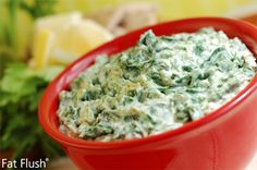 Fat Flush Spinach Dip- Official Recipe