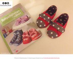 Süße Babyschuhe aus meinem Buch: http://www.kreativlaborberlin.de/mein-buch-babyschuehchen-naehen/