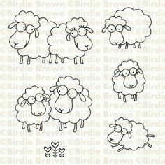 "New digi stamp sets are available for purchase now! ""Baa Baa"" set This set contains 6 images. Applique Patterns, Embroidery Applique, Machine Embroidery, Embroidery Designs, Sheep Crafts, Sheep Art, Animal Quilts, Digi Stamps, Clipart"
