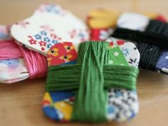 fabric covered floss bobbins
