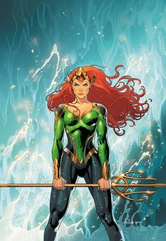 DC Comics is swimming in good news this week! Mera: Queen of Atlantis, will be the star of her own eponymous mini-series for DC Comics in February, her Arte Dc Comics, Marvel Comics, Ms Marvel, Mera Dc Comics, Heros Comics, Dc Comics Series, Dc Comics Art, Dc Heroes, Dc Comics Women