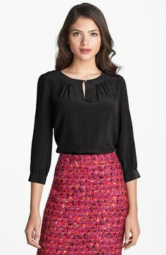kate spade new york 'jolette' silk top available at #Nordstrom
