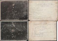 DUE RARE FOTOGRAFIE AEREE ORIGINALI DELLA PRIMA GUERRA MONDIALE FOLGARIA-VALSUGANA AGOSTO 1918