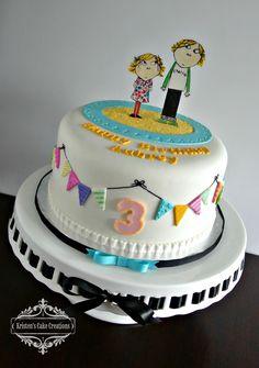 Birthday/Specialty Cake Gallery - Kristen's Cake Creations - All fondant Charlie & Lola birthday cake 3rd Birthday Cakes, Cake Gallery, Specialty Cakes, Cake Creations, Fondant, Desserts, Food, Tailgate Desserts, Deserts