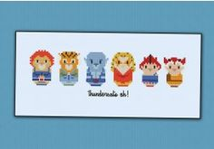 Thundercats Pop Culture Cross Stitch