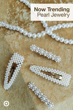 Find outfit ideas & trendy pearl accessories like earrings, studs, necklaces or clips for a stylish new look. Source by target ideas trendy Diy Crafts Jewelry, Cute Jewelry, Bead Crafts, Pearl Jewelry, Jewelry Art, Jewelery, Jewelry Design, Copper Jewelry, Boho Jewelry