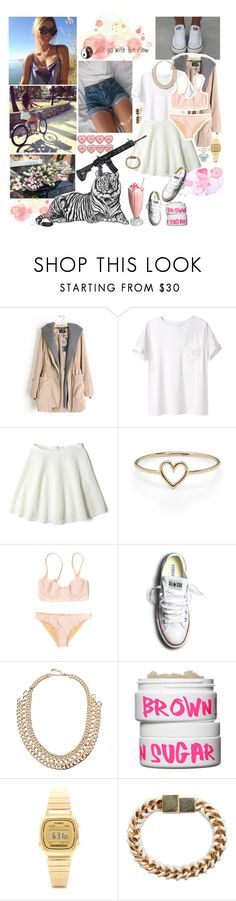 """""""thats a fat hungry btch"""" by penggg ❤ liked on Polyvore featuring KEEP ME, AR SRPLS, DKNY, Aurélie Bidermann, Mara Hoffman, Converse, Pieces, Nature Girl, Casio and Bex Rox"""