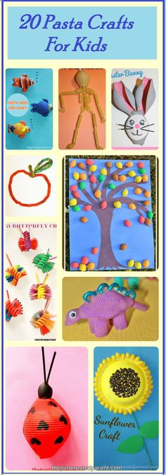 20 Pasta Crafts For Kids ,