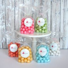 Shimmer gumballs - perfect favor or on dessert table!