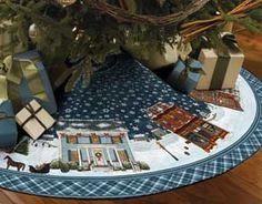 Christmas tree skirt quilt
