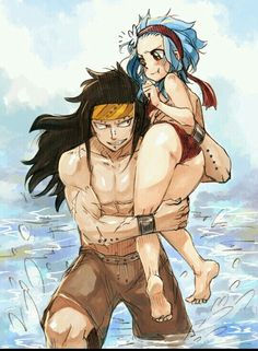 Time to get in the water shorty. Gajeel x Levy. Fairy tail.