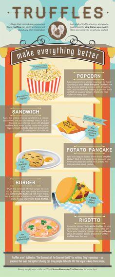 Truffles Make Everything Better   #Food #Truffles #Infographic