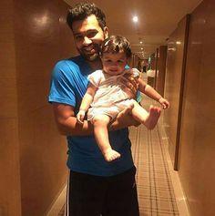 Baby Ziva with Rohit Sharma - http://ift.tt/1ZZ3e4d