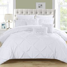 Chic Home Hannah 10 Piece Comforter Set | Wayfair - Liked @ Homescapes Home Staging www.homescapes-sd.com #contemporarybedding
