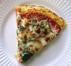 cauliflower pizza crust- photo from lauren conrad
