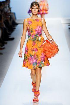 Pink Flowers ❀ Trend for Spring 2012    Blumarine Spring Summer 2012 