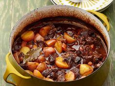 Beef Bourguignon recipe from Anne Burrell via Food Network