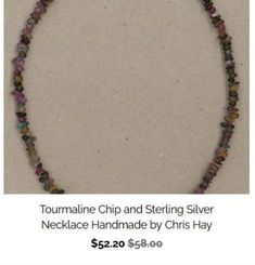 Faceted Sapphire and Sterling Silver Necklace Handmade by Chris Hay
