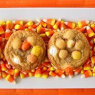Candy Corn M&M sugar cookie