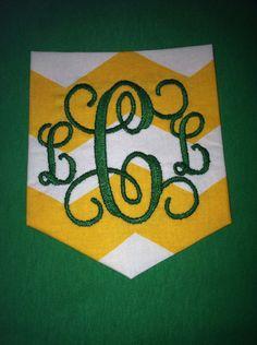 Baylor Monogram Frocket on Etsy, $20.00 Great for college gifts!