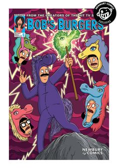 A Newbury Comics exclusive variant cover comic. (W) Brian Hall & Various (A) Frank Forte & Various (CA) Frank Forte Bob's Burgers is back for more! Join the Belcher family for the second-ever series o