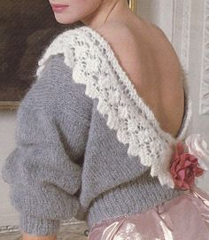1000+ images about Lace Jumper Vintage Knitting Patterns ...