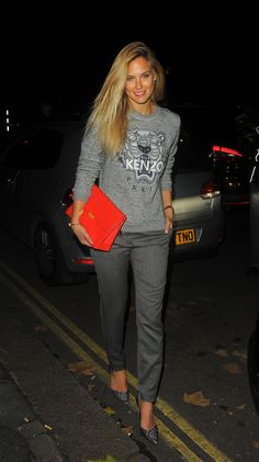 Bar Refaeli wearing Kenzo out to dinner. The 25 Model Moments That Wowed Us — Off the Catwalk