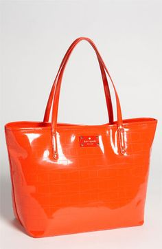textured PVC - kate spade new york 'signature spade coal - small' tote available at Nordstrom