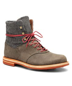 J SHOES Black & Gray Bowden Ankle Boot