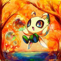Time traveler pokemon by kori7hatsumine.deviantart.com on @deviantART (Celebi)