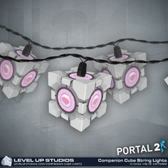 The holidays are about love, joy, and above all, companionship. What better way to spread the light of love than with literal companion lights? Each one of these ten Aperture Science Weighted Companion Cube lights is sure to bring a small, warming light to your tree, cubicle, parents' basement bedroom, or shack. The through-plug connector allows you to connect another series of lights, whether they be another set of companion cube lights or some worthless, lonely lights.            …