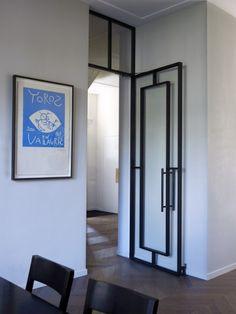 Interesting glass and metal door.