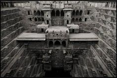Chand Baori, Rajasthan/ India. Was built in the 9th Century and is the world's deepest step well.  You had to be in top shape to walk back up those stairs with buckets of water.