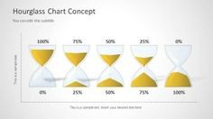 Timeline concept created with hourglass shapes in PowerPoint #templates #timelines #PowerPoint #design