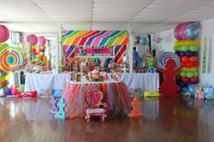 I love the idea of the tutu table skirt. Just in birthday party colors. Lillian first birthday party