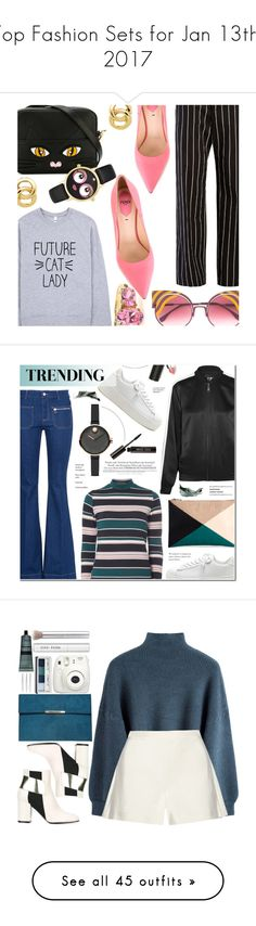 """""""Top Fashion Sets for Jan 13th, 2017"""" by polyvore ❤ liked on Polyvore featuring Balenciaga, Fendi, Yazbukey, Kate Spade, Monet, STELLA McCARTNEY, Sole Society, Karl Lagerfeld, Dorothy Perkins and Movado"""