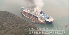 Da hat es ein schönes klassisches Kreuzfahrtschiff erwischt. Feuer auf der Ocean Countess auf der Chalkis Werft in Griechenland.
