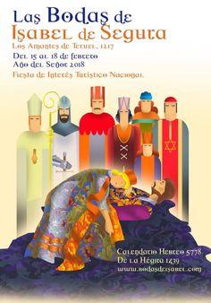"""Cartel para Las Bodas de Isabel 2018. Titulo: """"800 Años Amándose"""" Autor: Javier Antonio Marinas, (Asturias),"""
